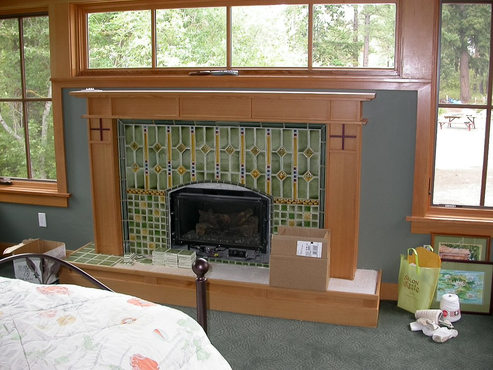 Catchy collections of craftsman tile fireplace totten for Craftsman fireplace pictures